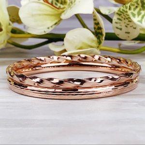 Rose Gold Turkish OT 925 2 piece bracelet Set
